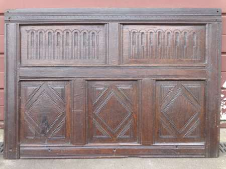 17th century oak overmantle paneling