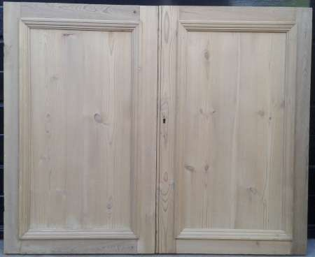 Pair of antique pine cupboard doors. - Cupboard Doors – Abergavenny Reclamation