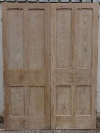 2016-01-04 Pitch pine double doors A-450