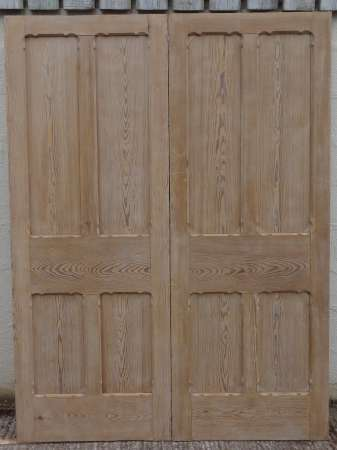 2016-01-04 Pitch pine double doors B-450