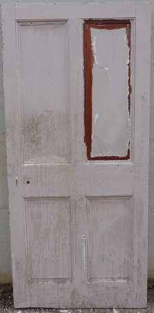 2016-10-04 Georgian 4 panel pitch pine door 7A-450