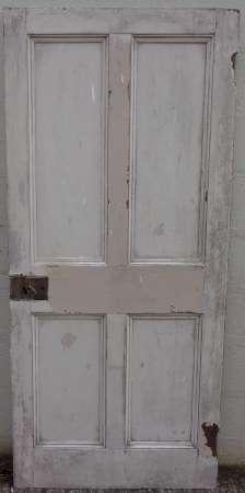 2016-10-04 Georgian 4 panel pitch pine door 8B-450