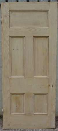 2016-10-05 5 panel pine door A-450