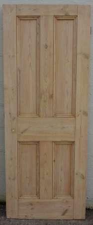 2016-12-04 Victorian 4 panel pine door PDX058-450