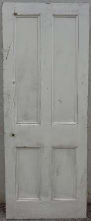 2016-18-04 Victorian 4 panel pine door 3A-450