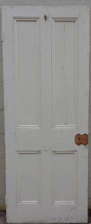 2016-18-04 Victorian 4 panel pine door 3B-450
