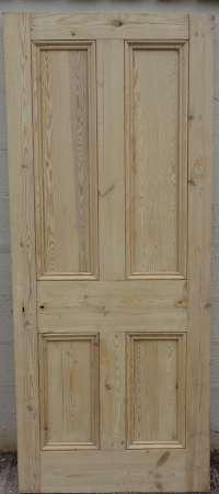 2016-18-04 Victorian 4 panel pine door 4A-450