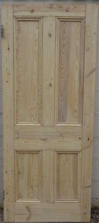 2016-18-04 Victorian 4 panel pine door 4B-450