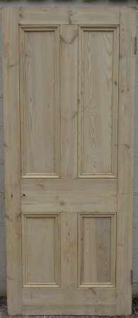 2016-18-04 Victorian 4 panel pine door 7B-450
