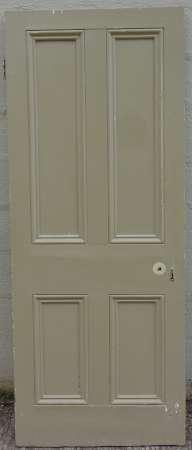 2016-20-05 Victorian 4 panel pine door 1A-450