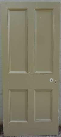 2016-20-05 Victorian 4 panel pine door 5A-450