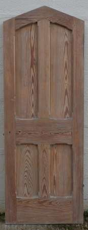2016-23-02 Pitch pine arched vestry door A-450