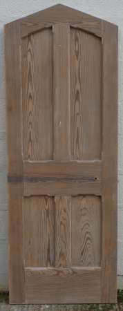 2016-23-02 Pitch pine arched vestry door B-450
