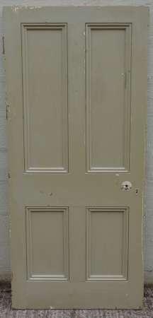 2016-25-05 Victorian 4 panel pine door 1A-450