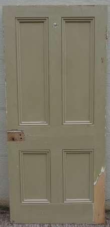 2016-25-05 Victorian 4 panel pine door 1B-450