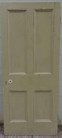2016-25-05 Victorian 4 panel pine door 2A-450
