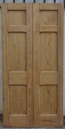 2016-29-04 Pitch pine double doors 2A-450