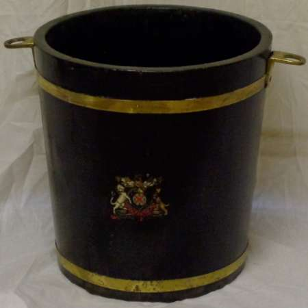 2016 Armorial wooden coal bucket-450