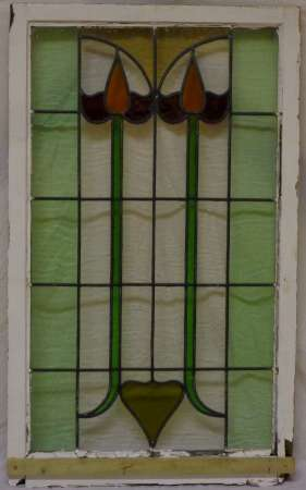 2016 Art nouveau stained glass window 1-450
