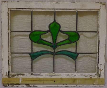2016 Art nouveau stained glass window 2a-450