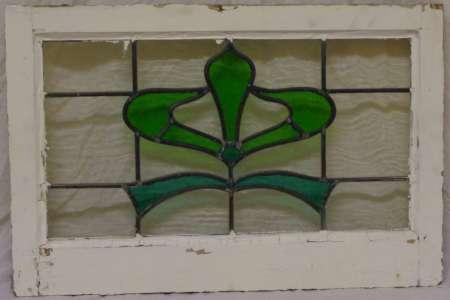 2016 Art nouveau stained glass window 2b-450