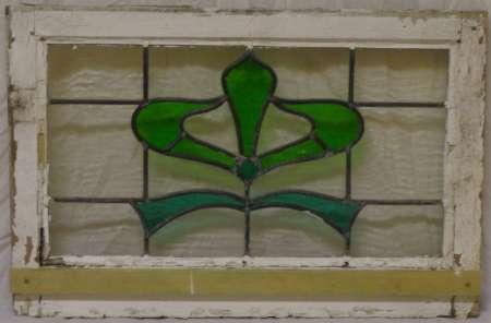 2016 Art nouveau stained glass window 2c-450