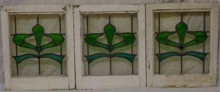 2016 Art nouveau stained glass window 2d-450