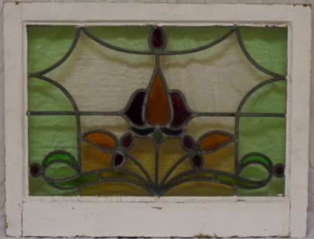 2016 Art nouveau stained glass window 3a-450