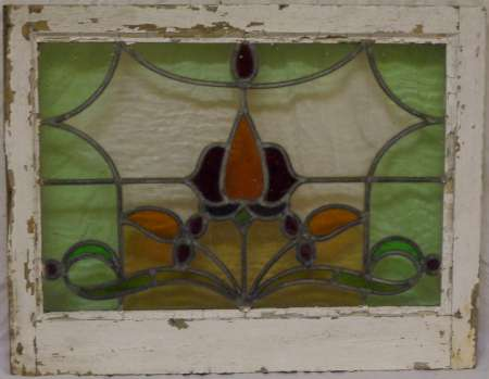 2016 Art nouveau stained glass window 3b-450