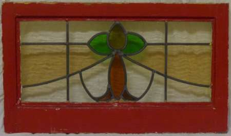 2016 Art nouveau stained glass window 4a-450