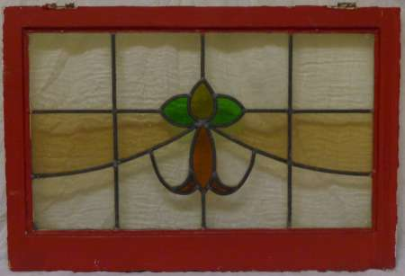 2016 Art nouveau stained glass window 4b-450
