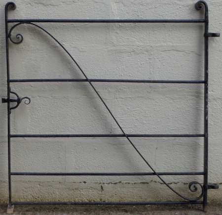 2017-05-04 Wrought iron garden gate B-450