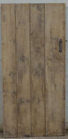 2017-27-03 Wide plank ledged pine door 5A-450