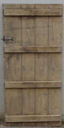 2017-27-03 Wide plank ledged pine door 5B-450