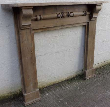 2017-29-01 Antique pine fire surround C-450